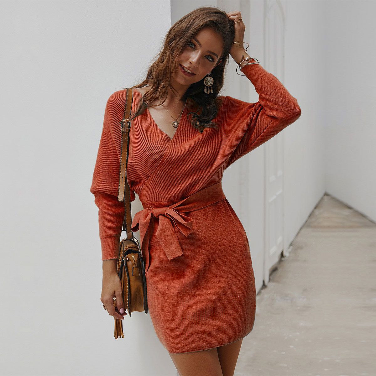 Sweetgirl™: Autumn Knitted Dress