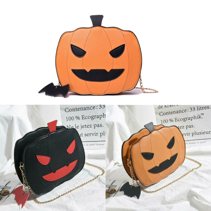 Pursey™:  Halloween Pumpkin Shaped Shoulder Bag