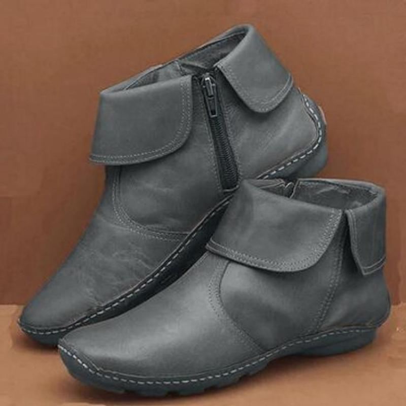 Akiko™: Women Sewing Leather Ankle Boots