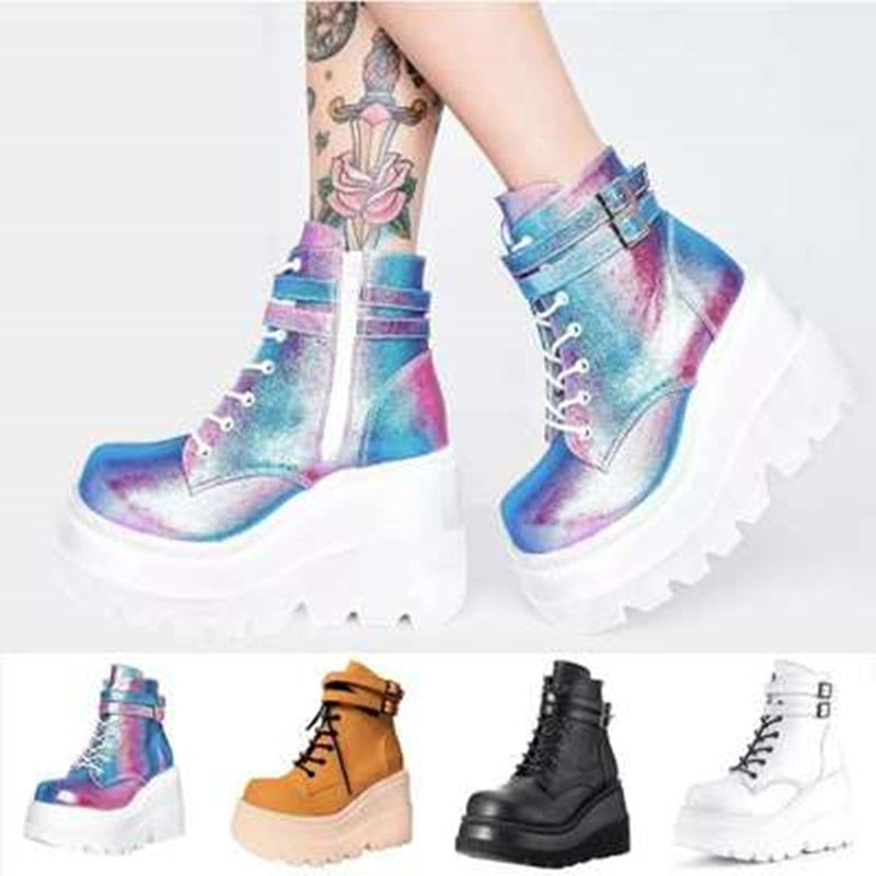 Siddons™: Women Lace Up Fashion Sneakers