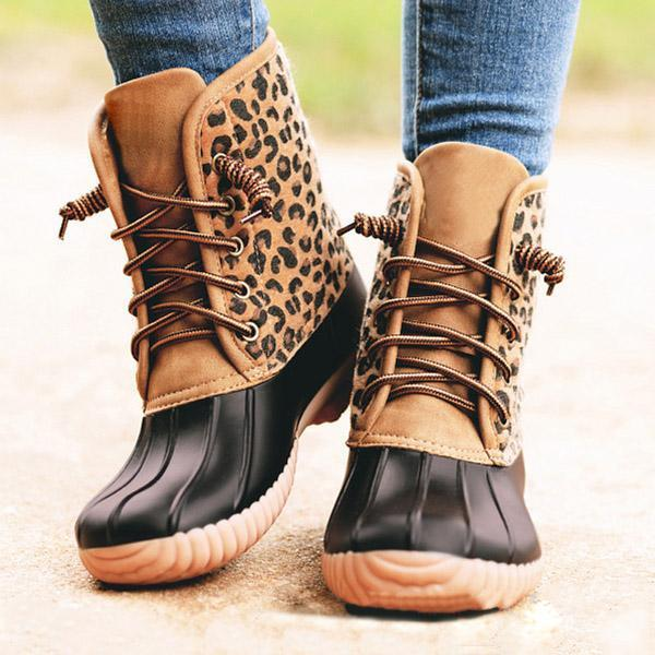 Ylane™: Women Round Head Short Boots