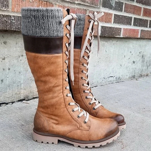Norway™: Women's Cozy Vintage Leather Knee High Boots