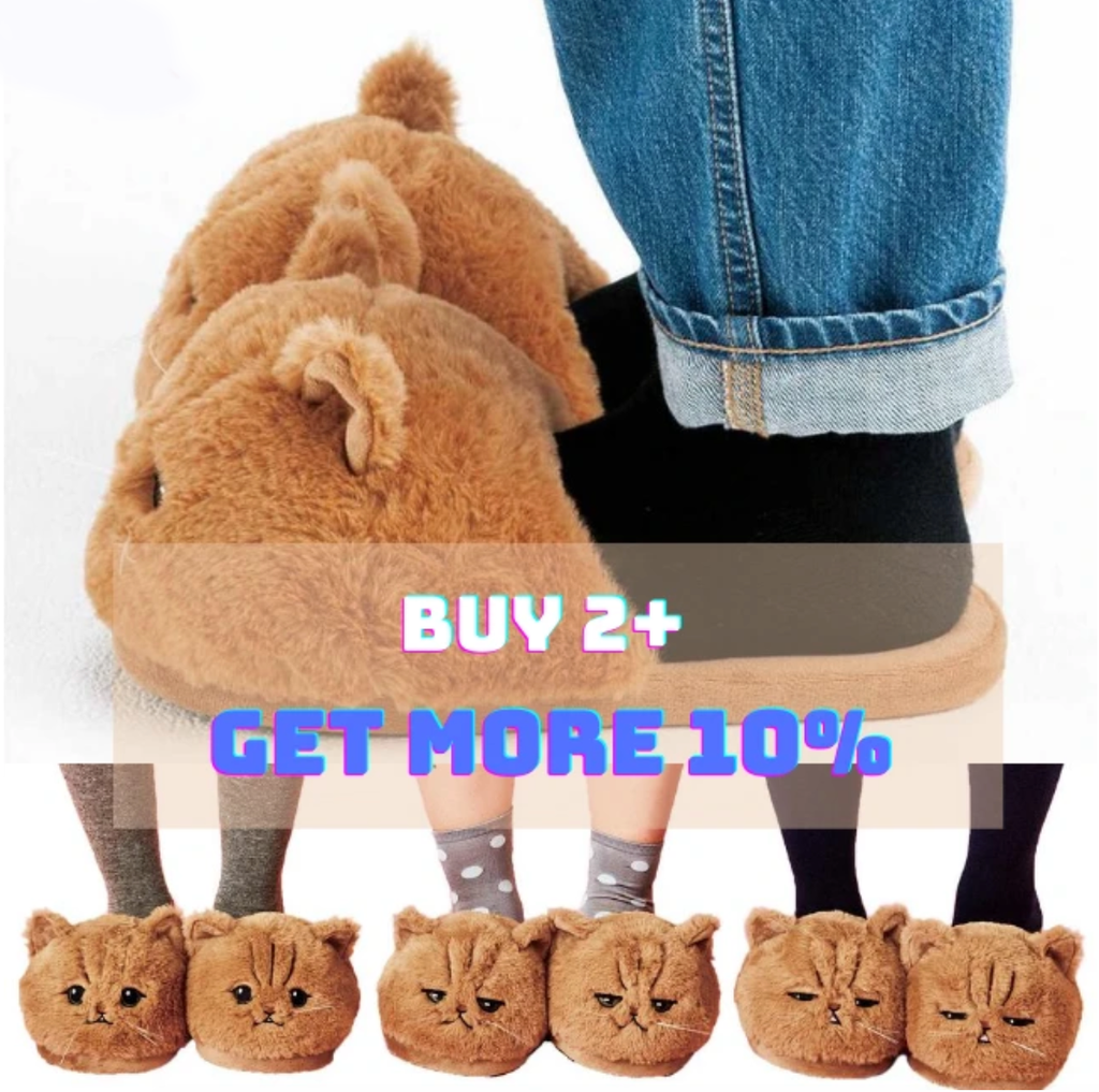 KITTEN™: Cute Cat Plush Slippers
