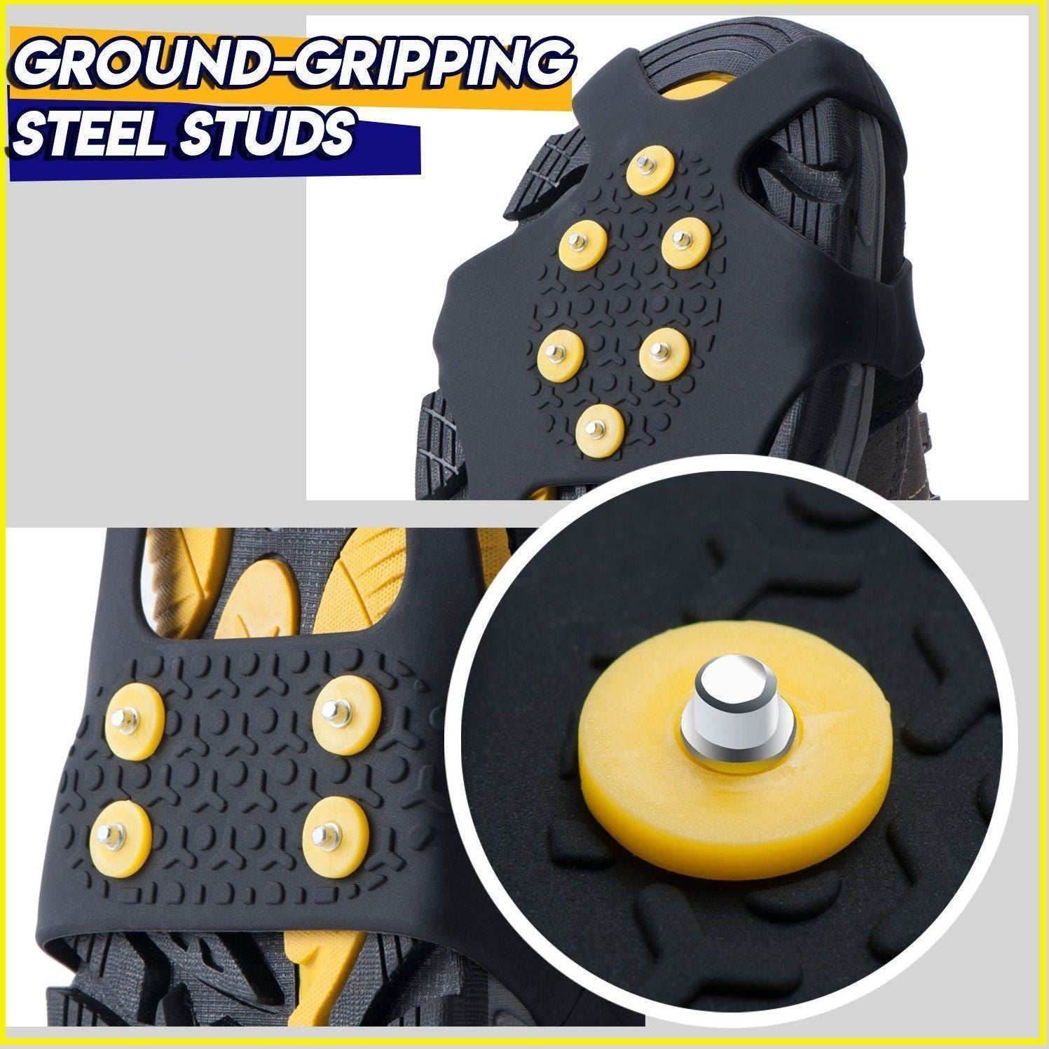 HUGO™: 10-Stud Ice Gripper Spike Anti-Skid