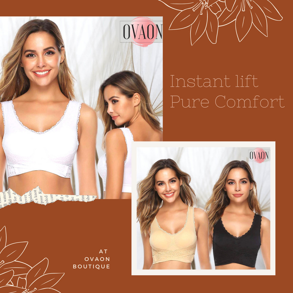 BustLift™: Wireless Front Cross Lace Support Bra (Clearance Sale Up to 65% Off)