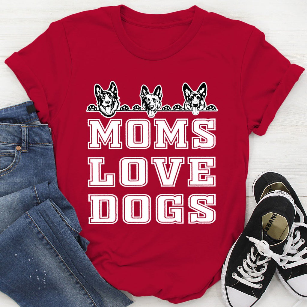 Ovaon German Sherphed Dog Mom Lovers Graphic Unisex Gift Classic T Shirt