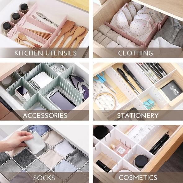 Free-Combination Adjustable Drawer Organizer (Set of 4)