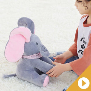 HappyKID™: PEEK-A-BOO Singing Elephant Plush Doll