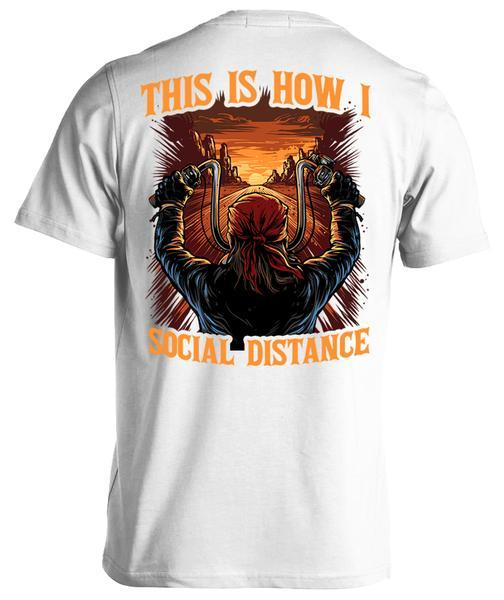 "Bruzzle™: ""This Is How I Social Distance"" Classic T-Shirt"