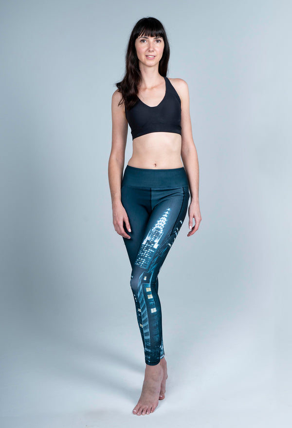 REAL PRODUCT 42ND Street New York Midnight Full Length Leggings