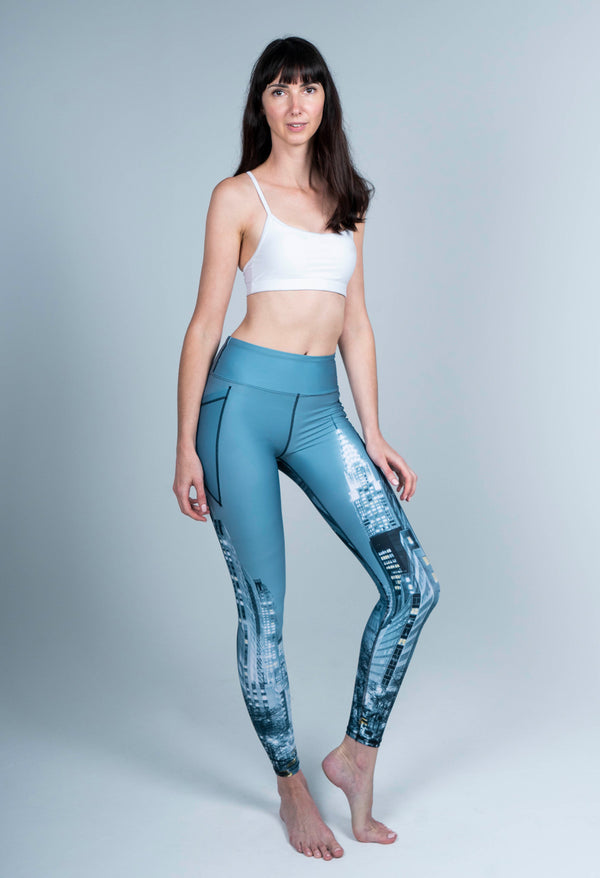 REAL PRODUCT 42ND Street New York Grey Full Length Leggings