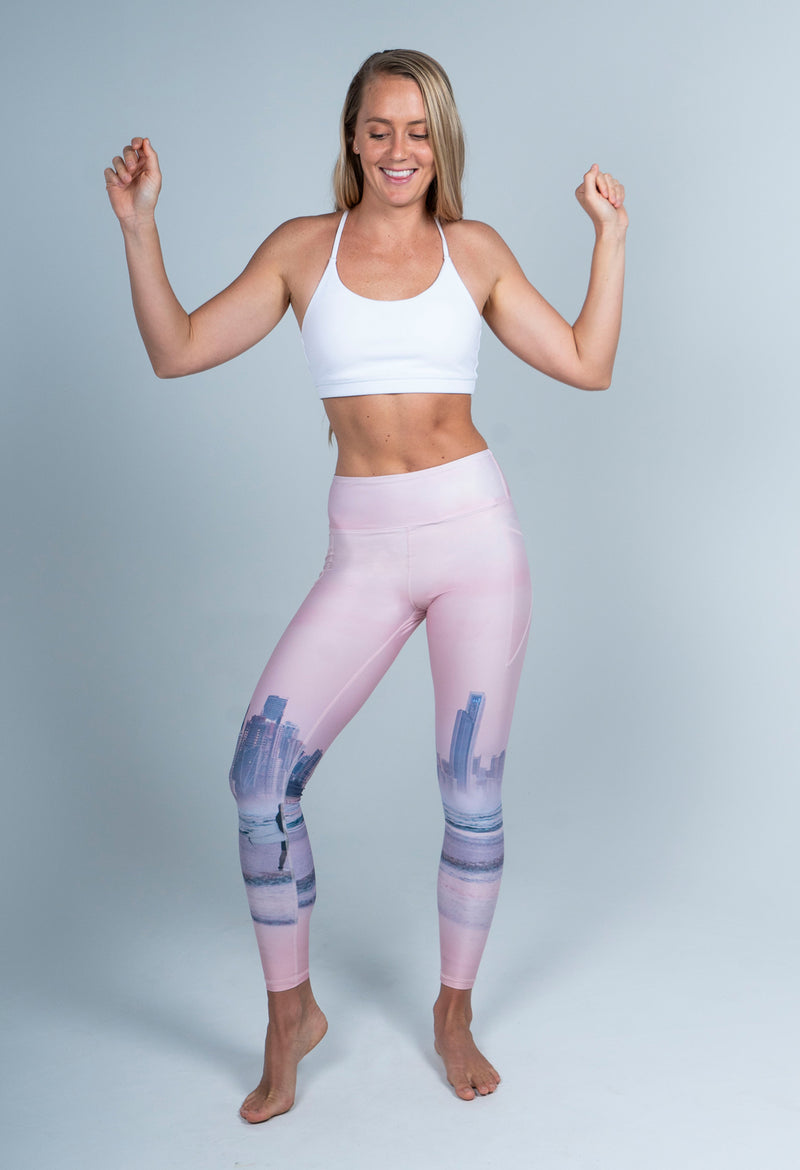 Pastel City Gold Coast Full Length Leggings