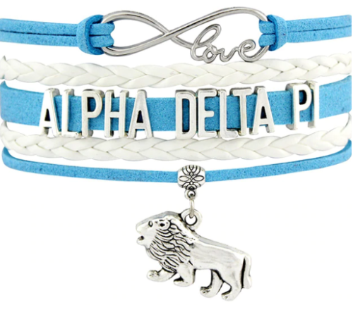 Alpha Delta Pi Bracelet - Multi Layer Leather - Infinite Love Sorority