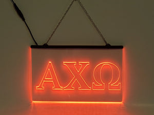 Alpha Chi Omega LED Sign Greek Letter Sorority Light