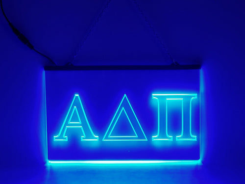 Alpha Delta Pi LED Sign Greek Letter Sorority Light