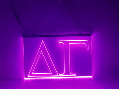 Delta Gamma LED Sign Greek Letter Sorority Light