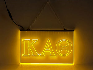 Kappa Alpha Theta LED Sign Greek Letter Sorority Light