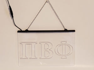 Pi Beta Phi LED Sign Greek Letter Sorority Light