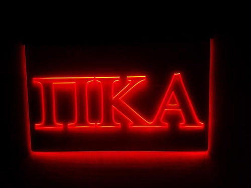Pi Kappa Alpha LED Sign Greek Letter Fraternity Light