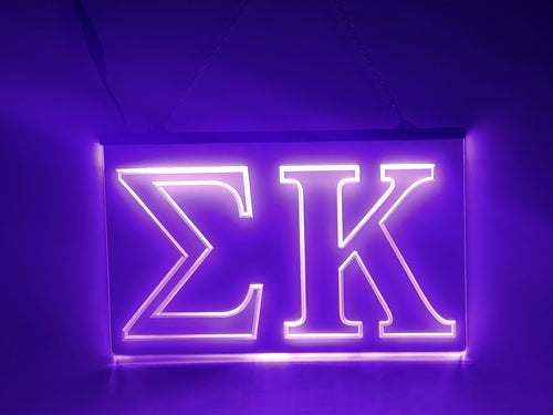 Sigma Kappa LED Sign Greek Letter Sorority Light