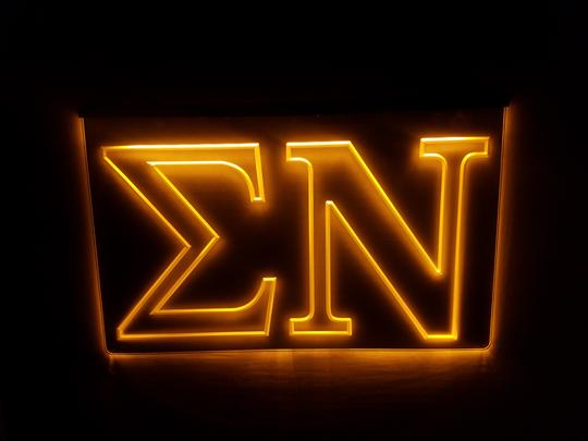 Sigma Nu LED Sign Greek Letter Fraternity Light