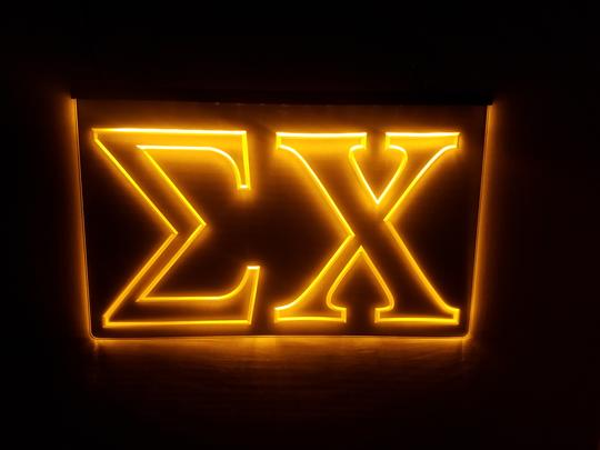 Sigma Chi LED Sign Greek Letter Fraternity Light