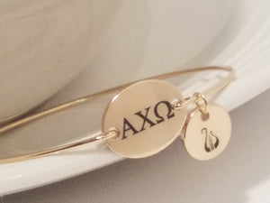 Alpha Chi Omega Bangle Bracelet Charm Sorority