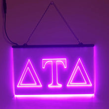 Load image into Gallery viewer, Delta Tau Delta LED Sign Greek Letter Fraternity Light