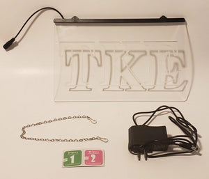 Tau Kappa Epsilon LED Sign Greek Letter Fraternity Light