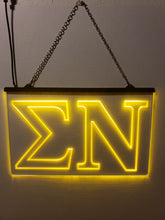 Load image into Gallery viewer, Sigma Nu LED Sign Greek Letter Fraternity Light