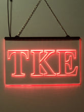 Load image into Gallery viewer, Tau Kappa Epsilon LED Sign Greek Letter Fraternity Light