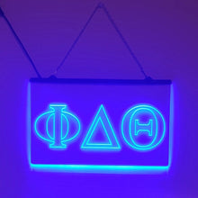 Load image into Gallery viewer, Phi Delta Theta LED Sign Greek Letter Fraternity Light