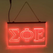 Load image into Gallery viewer, Sigma Phi Epsilon LED Sign Greek Letter Fraternity Light