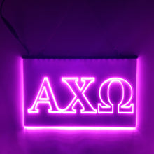 Load image into Gallery viewer, Alpha Chi Omega LED Sign Greek Letter Sorority Light