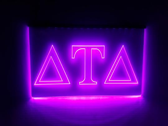 Delta Tau Delta LED Sign Greek Letter Fraternity Light