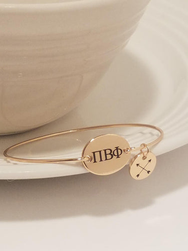 Pi Beta Phi Bangle Bracelet Charm Sorority