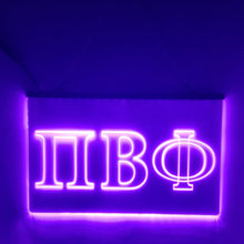 Load image into Gallery viewer, Pi Beta Phi LED Sign Greek Letter Sorority Light
