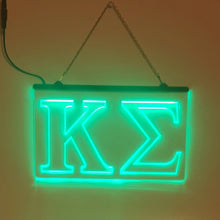 Load image into Gallery viewer, Kappa Sigma LED Sign Greek Letter Fraternity Light
