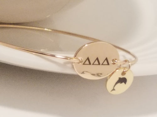 Tri Delta Bangle Bracelet Charm Sorority
