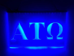 Alpha Tau Omega LED Sign Greek Letter Fraternity Light