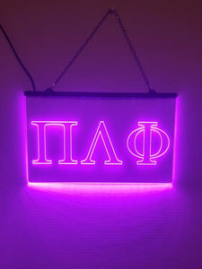 Pi Lambda Phi LED Sign Greek Letter Fraternity Light