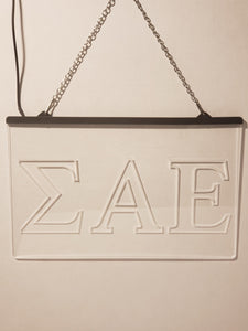 Sigma Alpha Epsilon LED Sign Greek Letter Fraternity Light