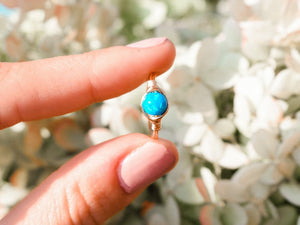 Blue/White Opal Ring