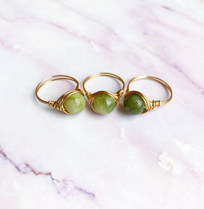 Peridot Jade Ring