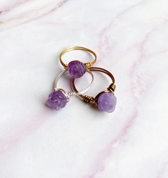 Rose Ring - Lavender Amethyst