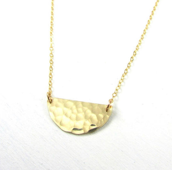 Half Moon 14k Gold Fill Necklace