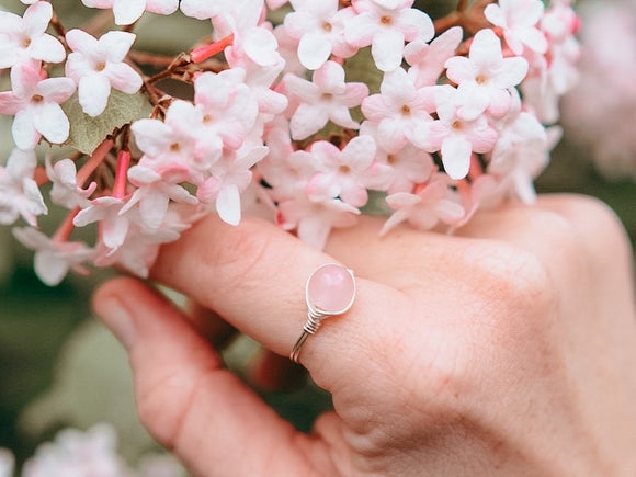 Rose Quartz Ring
