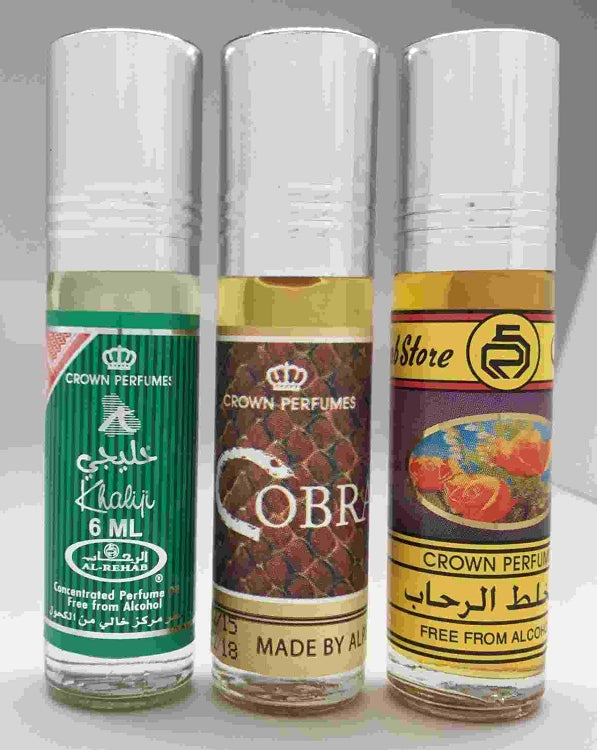 Al-Rehab  Bestsellers Set # 1: Soft,  Sultan Al Oud  and Red Rose