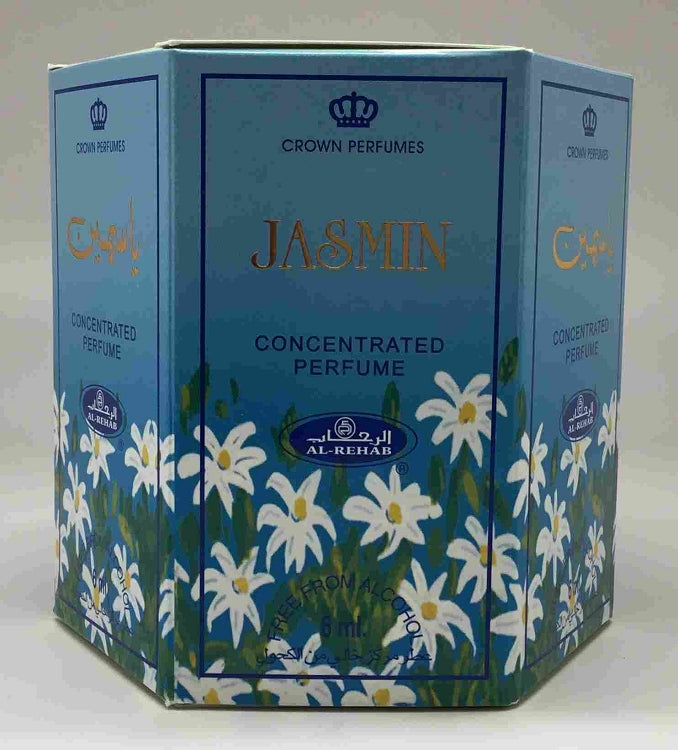 Jasmin - 6ml (.2oz) Roll-on Perfume Oil by Al-Rehab (Box of 6)