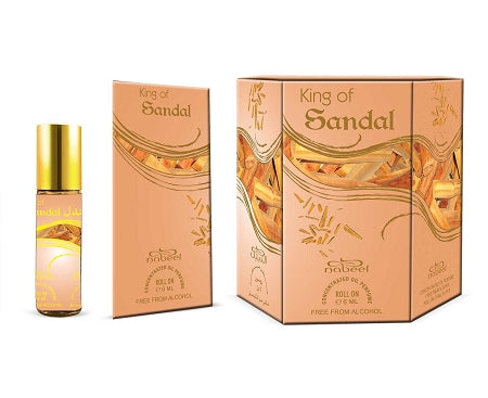 King of Sandal - Box 6 x 6ml Roll-on Perfume Oil by Nabeel